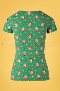 Blutsgeschwister 31915 Tshirt Sunshine Green Floral 20200210 005W