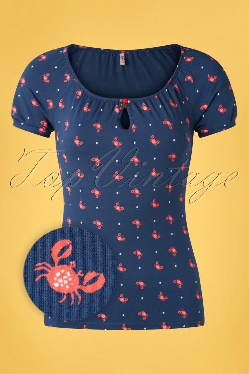 Blutsgeschwister 31924 Tshirt Crab Blue 20200210 003Z