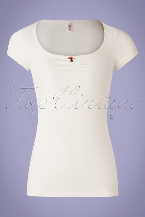 Blutsgeschwister 31920 Tshirt White Rose 10022020 003W