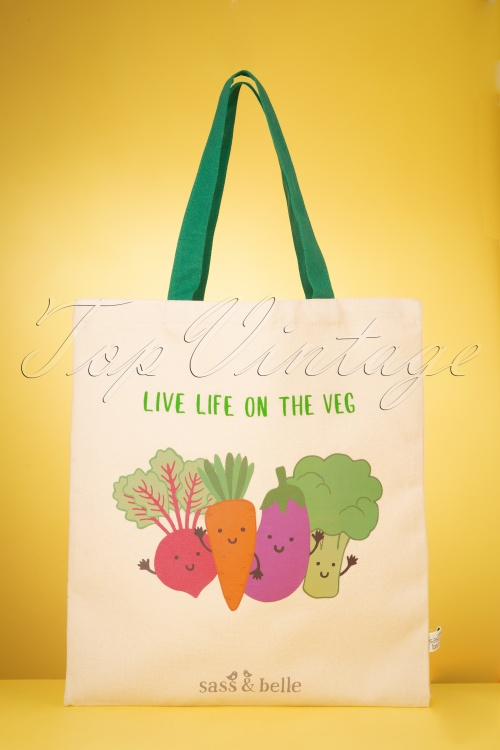 Sass&Belle 33479 Live Life On The Veg Tote Bag 200210 017W