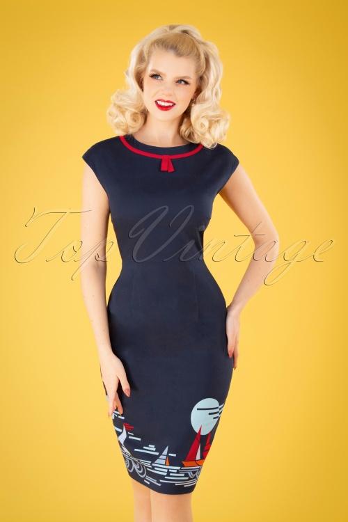 Banned 33084 Summer Sail Pencil Dress 11072019 040MW