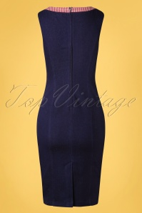 Banned 32820 Diner Days Pencil Dress Dark Blue 11072019 005W
