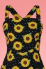 Collectif 32176 Maggie Sunflower Swing Dress Black 20200120 020L V