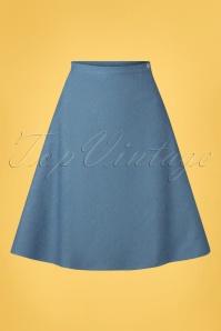 Very Cherry 60s A-line Skirt in Light Denim