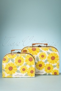 60s Sunflower Suitcase Set