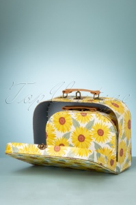 Sass&Belle 33474 Suitcase Yellow Green SunFlowers Two in One Bag 200210 015W