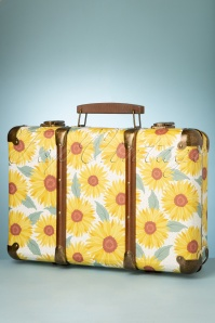 Sass&Belle 33475 Suitcase Yellow Green SunFlowers Bag 200210 012W