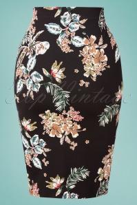 Vive Maria 32243 Pencilskirt Honolulu Black Floral 20200212 003W