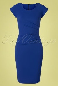 Vintage Chic for TopVintage 50s Serenity Pencil Dress in Royal Blue