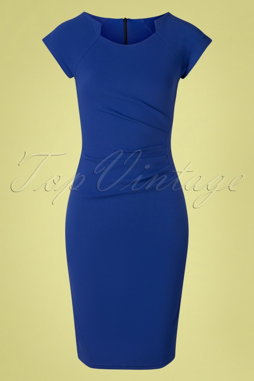 Vintage Chic 33441 Bodycon Penciljurk Royal 20 011W