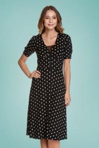ViveMaria 32233 Marguerite Dress in Black 20200211 020L