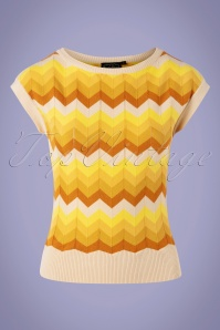 Vixen 33000 Top 70s Yana Crewneck Yellow 11112019 002W