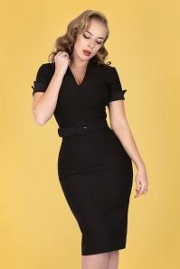 ZoeVine 33204 Georgie Pencil Dress in Black 20200213 020L