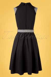 Vixen 32985 Swingdress Black Stripped Tie 11182019 011W