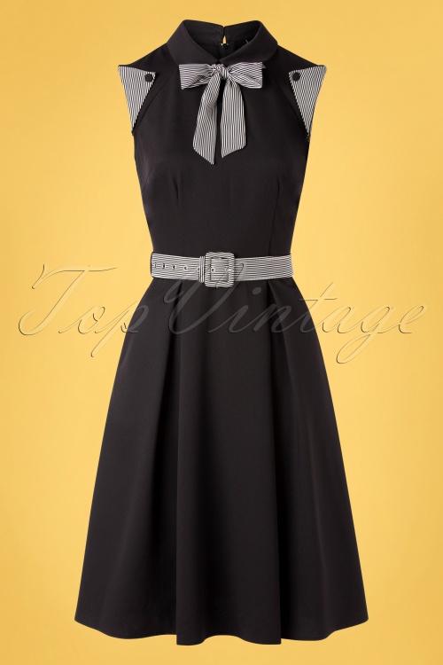 Vixen 32985 Swingdress Black Stripped Tie 11182019 004W
