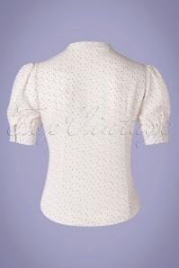 Vixen 33004 40s Melody Sprinkles Blouse White 11122019 015W