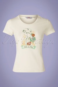 Banned 33140 Floral Lady T shirt WHite 11052019 001W
