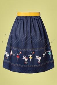 Vixen 32995 Swingskirt Blue 50s Circus 20200213 010W