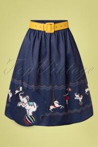 Vixen 32995 Swingskirt Blue 50s Circus 20200213 007Z