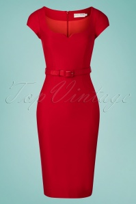 ZoeVine 33205 Gina Pencil Dress in Red 20200214 004W