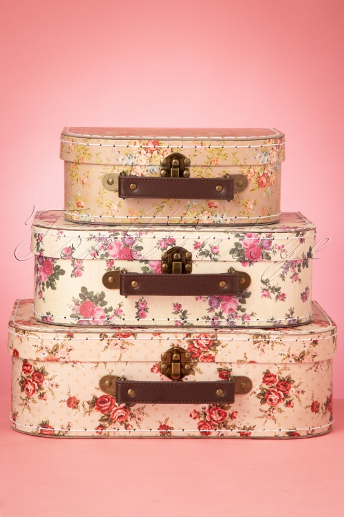 Sass&Belle 33472 Suitcase Pink Rose Flowers Three in One Bag 200210 009W