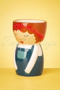 Sass&Belle 33480 Libby Vase Pot BLue White Red 200210 015W