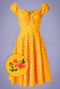 Sheen 32766 Swingdress Serenety Yellow Floral 20200213 010Z