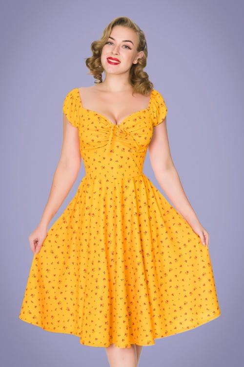 Sheen 32766 Serenity Dress in Mustard Print 2020210 020LW
