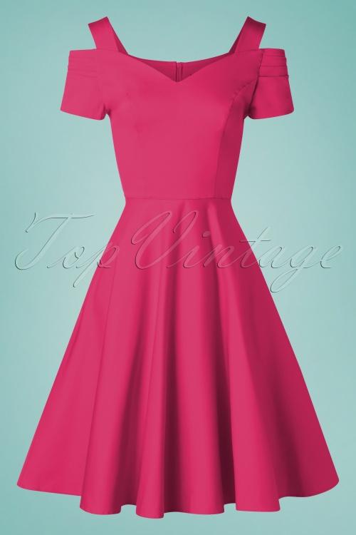 Bunny 33732 Swingdress Helen Hot Pink 20200213 006W