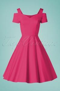 Bunny 33732 Swingdress Helen Hot Pink 20200213 002W