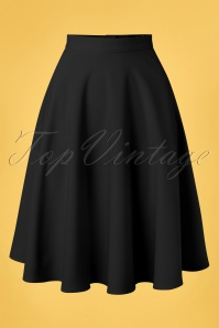 Bunny Amelie Swing Skirt Années 50 en Noir