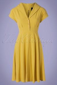 50s Sahara Swing Dress in Yellow
