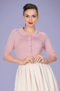 Banned 33172 April Bow Cardigan in Lilac 20200211 020L W