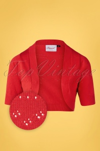 Banned Retro You Are My Sunshine Bolero Années 50 en Rouge