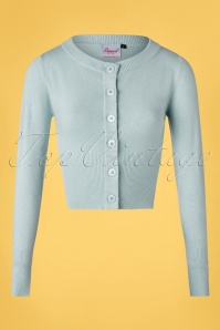 Banned Retro 50s Dolly Cardigan in Light Blue