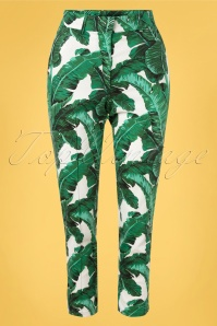 Banned 33127 Tropical Leaves Trousers 11112019 002 W