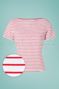 Banned 33161 Italy Sailor Striped Top Red 20191101 002W1