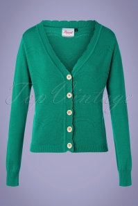 Banned 33164 June Cardigan in Teal Green 20191101 003 W