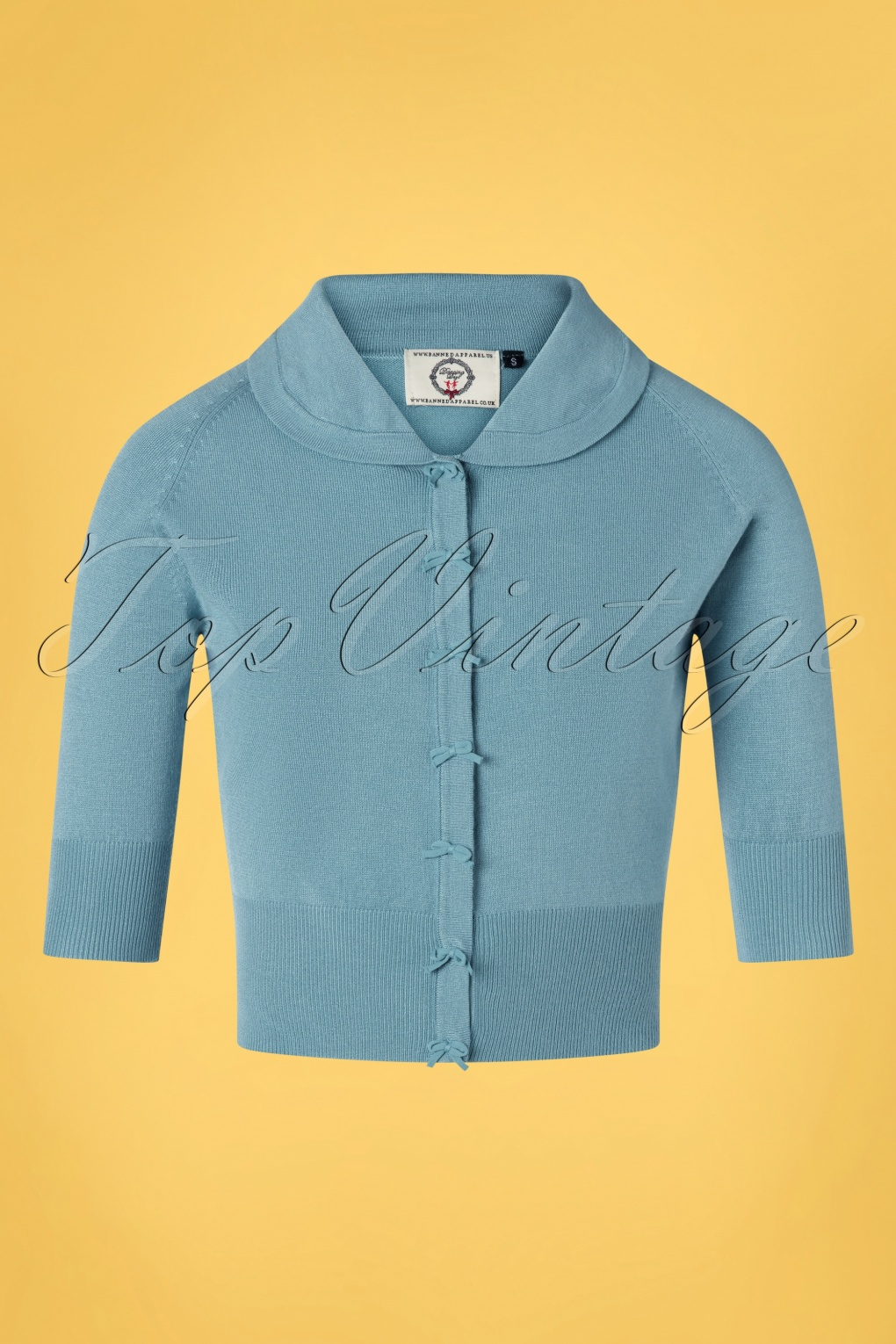 1940s Sweater Styles 40s April Bow Cardigan in Baby Blue £33.30 AT vintagedancer.com