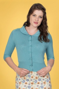 Banned 33171 April Bow Cardigan in Baby Blue 20200211 020L W