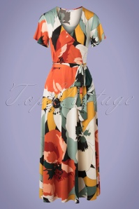 Md'M 70s Hannah Huge Flower Dress in Multi