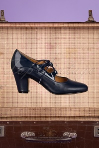 Topvintage 33081 Navy Charol Pump 20 013 Recovered W