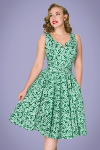 Sheen 32765 Selene Dress in Green Floral 20200213 020L W