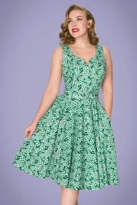 Sheen 32765 Selene Dress in Green Floral 20200213 020L W