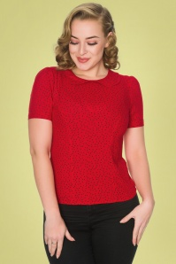 Sheen 32772 Leila Blouse in Red Polka 20200213 020L