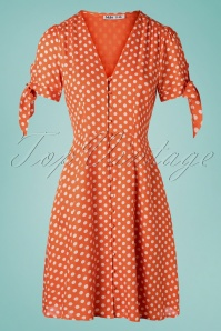 MD'M 31971 Dress orange Polka dot 20 002W