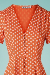 MD'M 31971 Dress orange Polka dot 20 002V