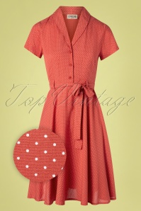 Circus 31435 Swingdress Red Pindot 10252019 009Z