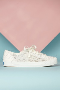 Keds 31384 Kickstart Crochet cream sneakers 02172020 001W