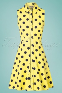 Circus 31432 Swingdress Sunpindot Yellow 10252019 004W
